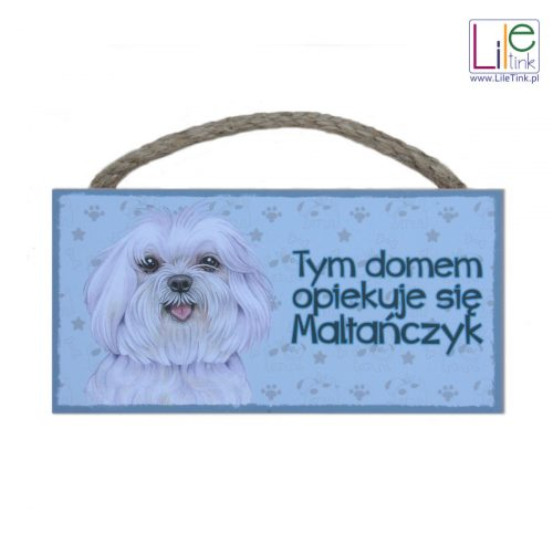 Tabliczka z maltańczykiem