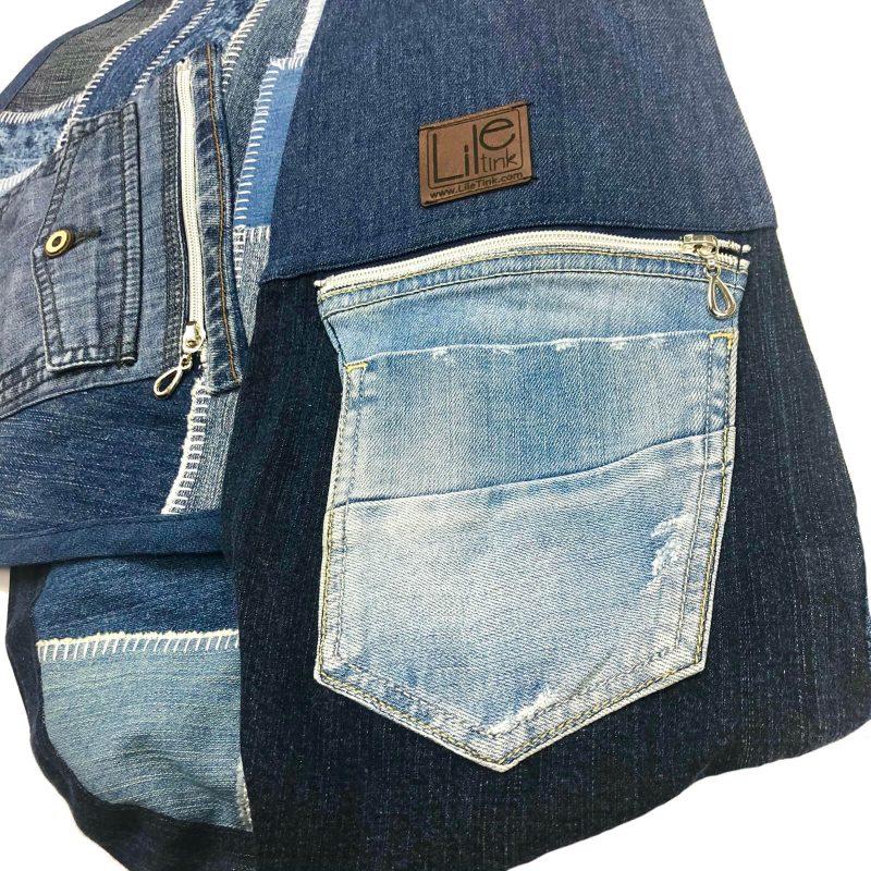 jeansowe nosidło dla psa
